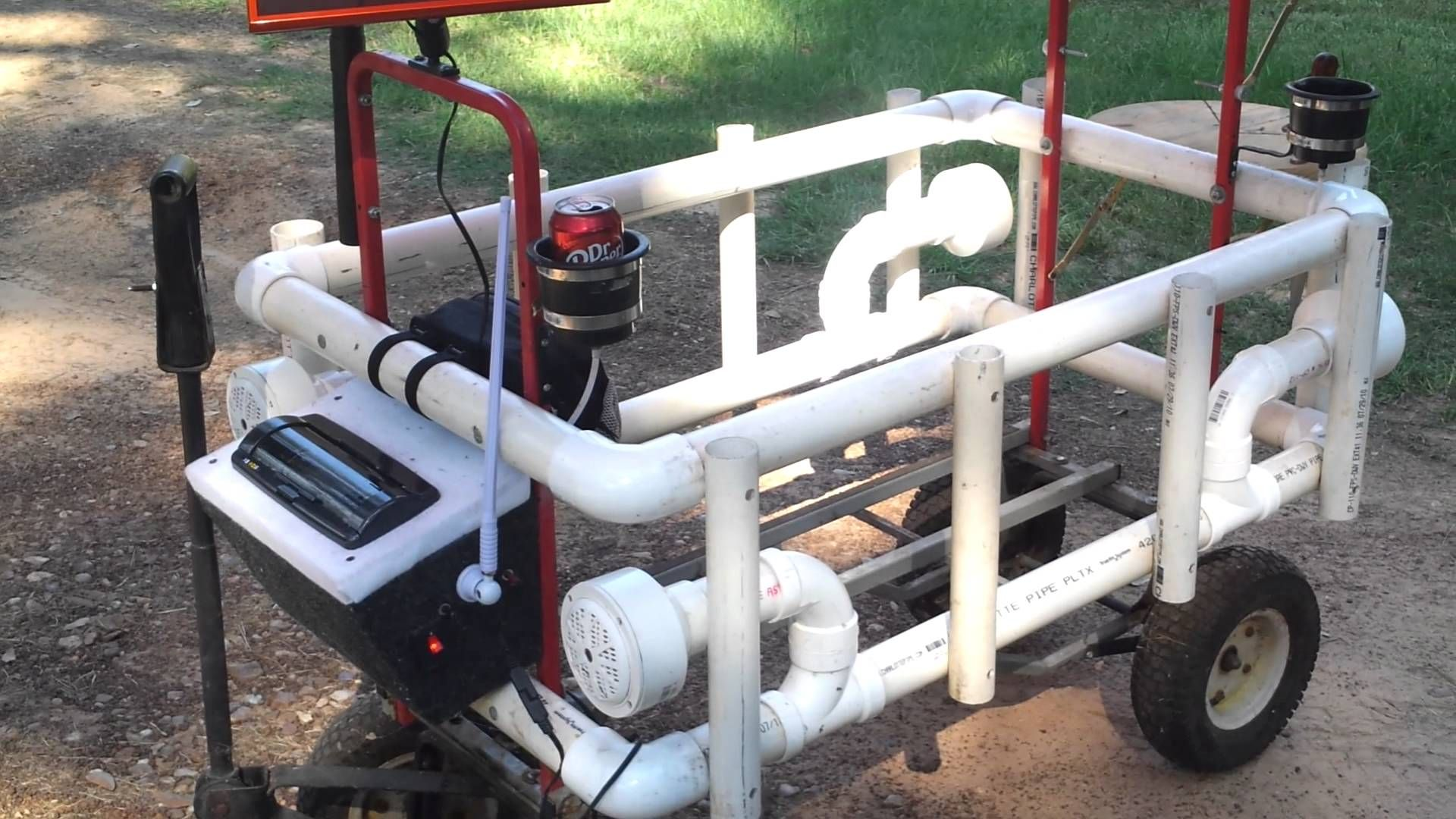 Pvc projects pvc projects pinterest fishing cart and for Homemade fishing cart