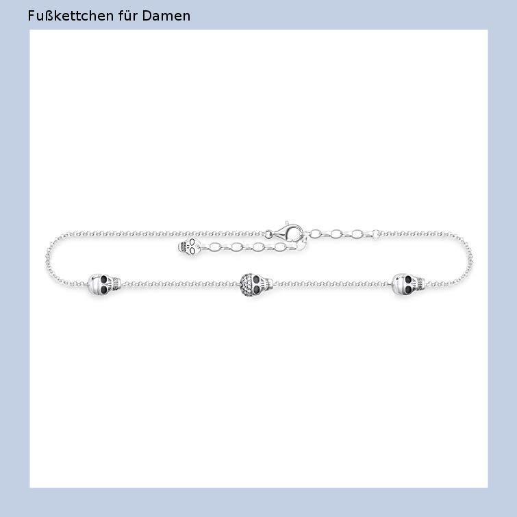 verstellbare Kette Schlangenkette mit Perlen Jlbuay Fu/ßkettchen aus Edelstahl f/ür Damen und M/ädchen silberfarben