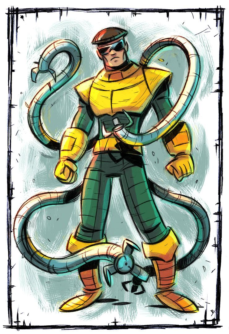 Doctor Octopus Color By Stalnososkoviy Spiderman Art Octopus Colors Comic Books Art
