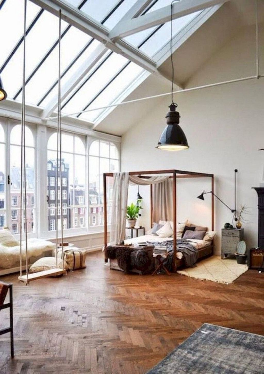 Awesome 35 Fascinating Loft Bedrooms Design Ideas Loft Apartment Decorating Stylish Loft Loft Apartment Designs
