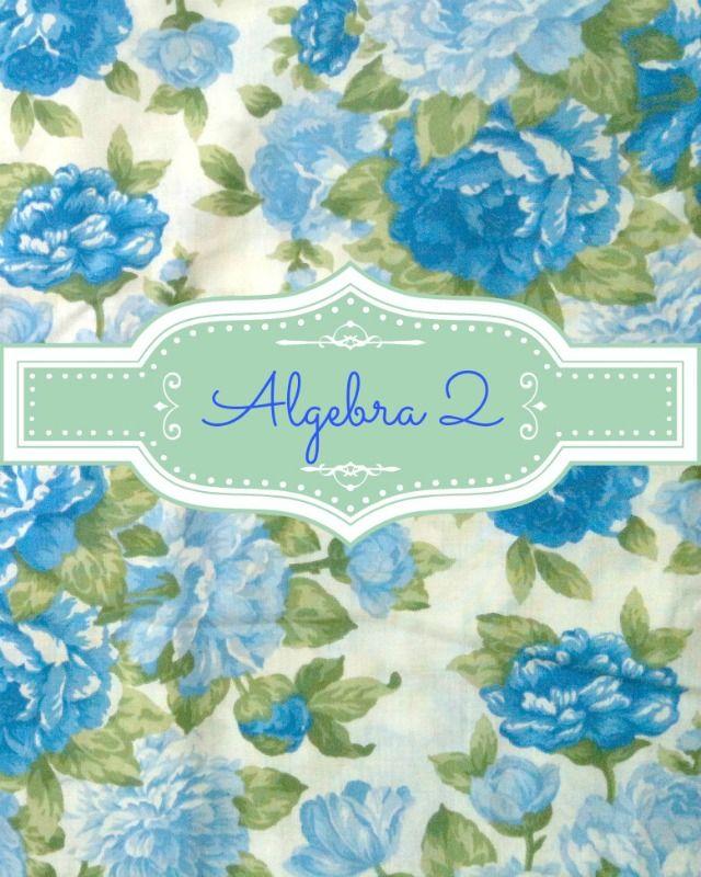 Algebra II Binder Cover