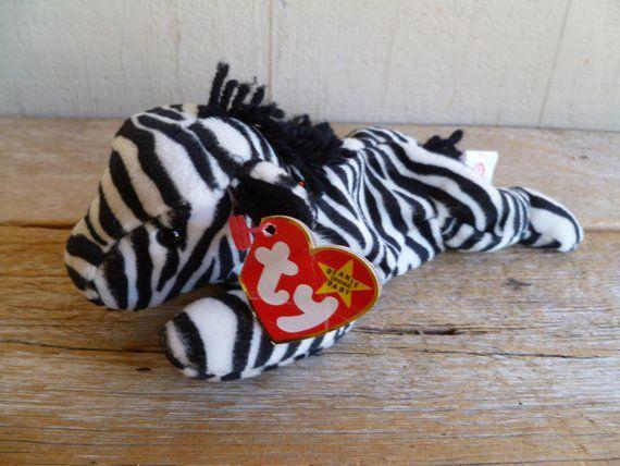 b31153cabc0 TY Beanie Babies Plush Zebra