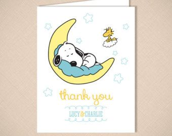 Great Snoopy And Woodstock Stork Cute Baby Shower By PinkPlumDesign