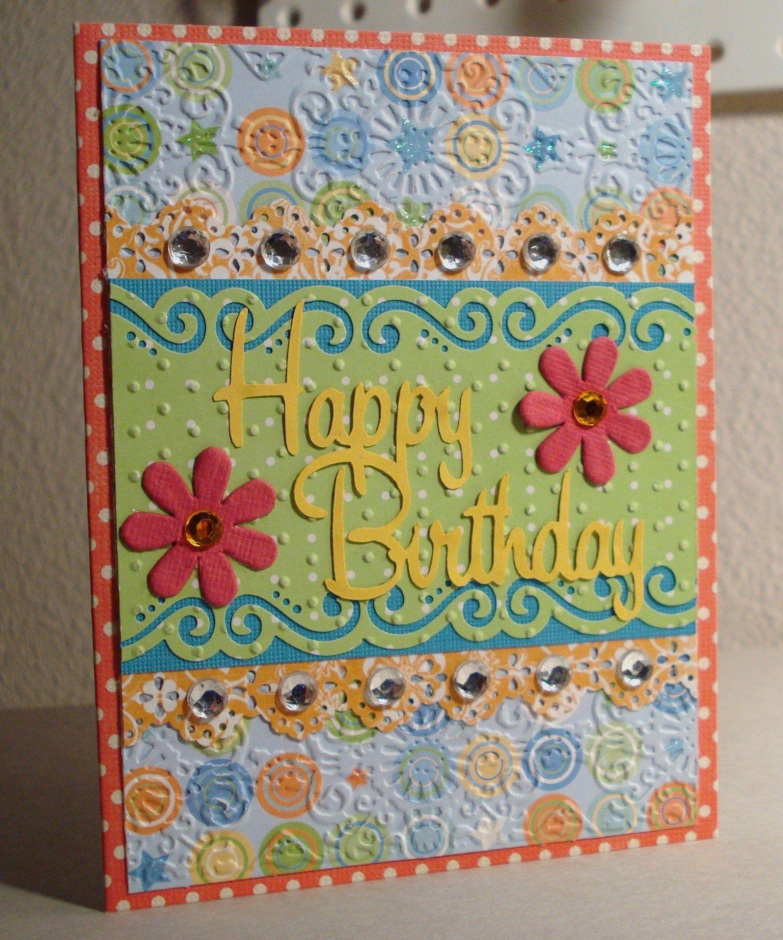 Birthday Card Scrapbook Com Martha Stewart Punches Pinterest