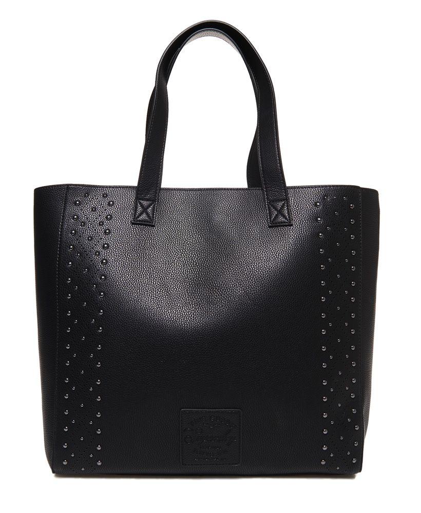 Superdry Elaina Studded Tote Bag Black School Bags Uni