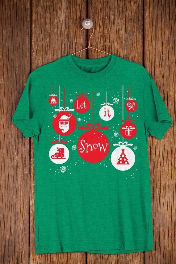 Let It Snow White Christmas Shirt Winter Break Wonderland   Etsy
