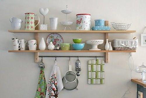 repisas abierta Open Kitchen Pinterest Cosas para la casa - estantes para cocina