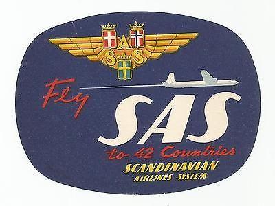Sas Scandinavian Airlines Luggage Label Companhias Aereas Fotos Aeronave