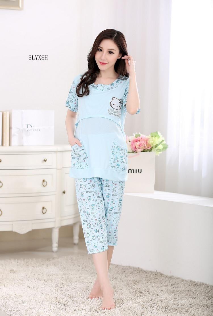 dead0f03bfdd8 SLYXSH Summer Maternity Nightwear Cartoon Maternity Clothes Breastfeeding  Sleepwear Nursing Pajamas for Pregnant Women. Yesterday's price: US $14.20  (12.79 ...