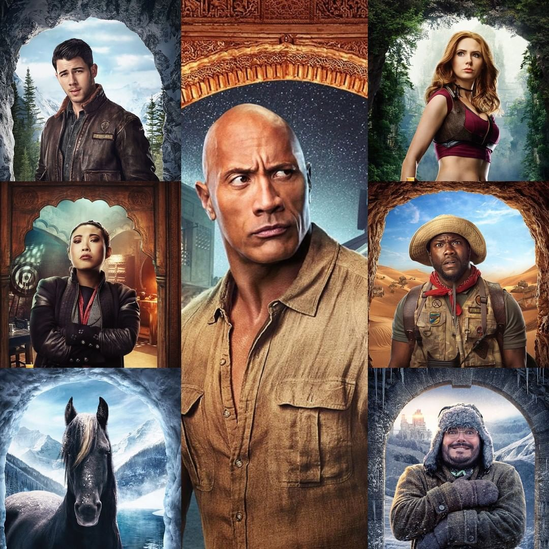 Rotten Tomatoes On Instagram Meet The Players Of Jumanji The Next Level In Theaters December 13 Filmes De Epoca Filmes