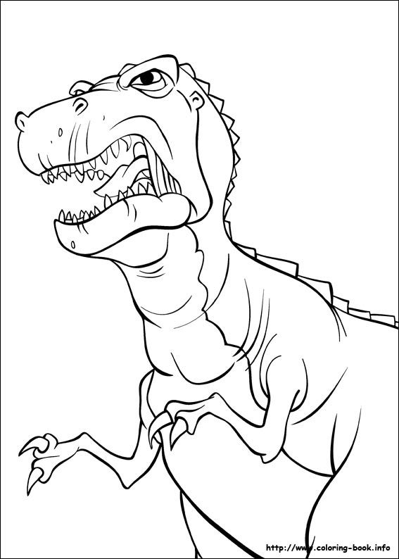 D Is For Dinosaur Coloring Page Coloring Pages Cartoon