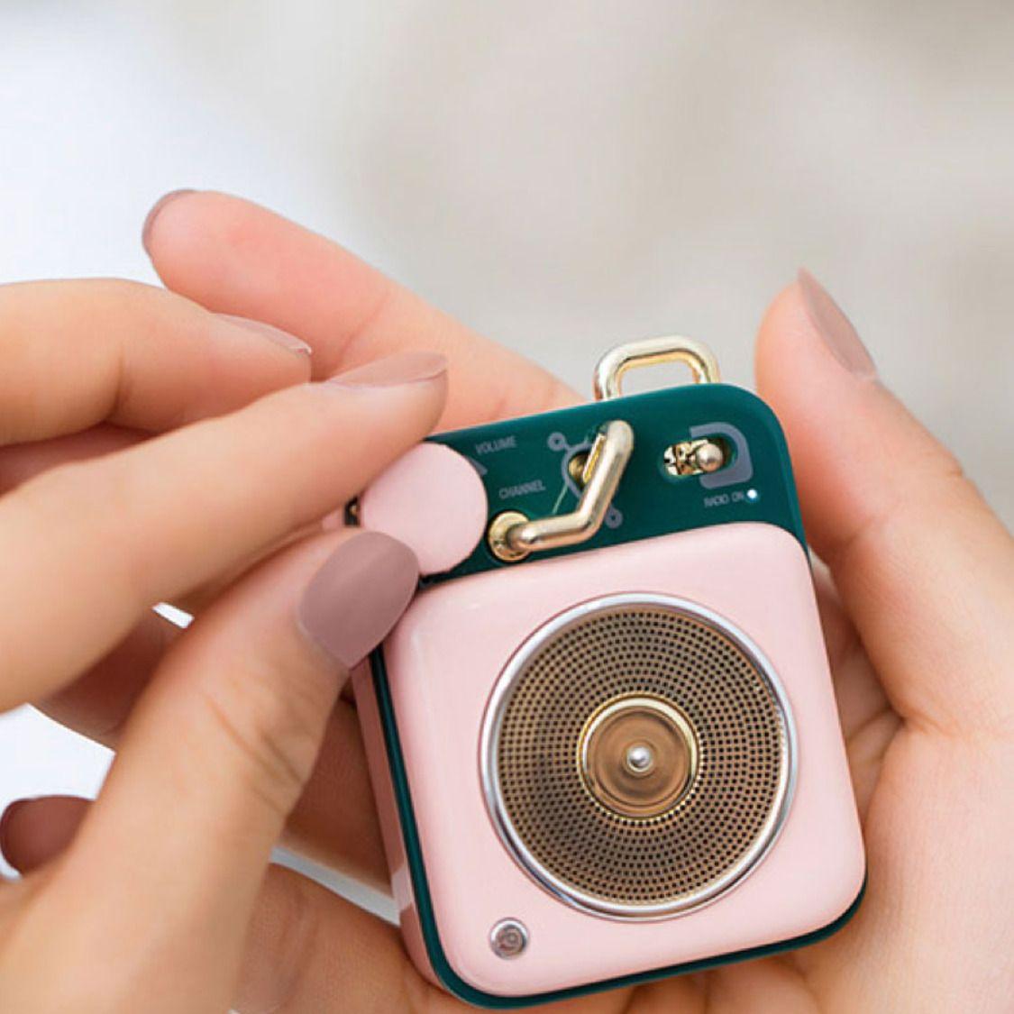 Muzen Atomic Vinyl Player Design Miniature Bluetooth Speaker Vinyl Player Design Vinyl Player Speaker