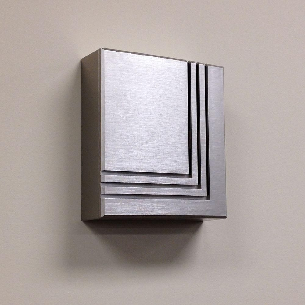 Hampton Bay Wireless or Wired Door Bell, Brushed Nickel-HB ... on