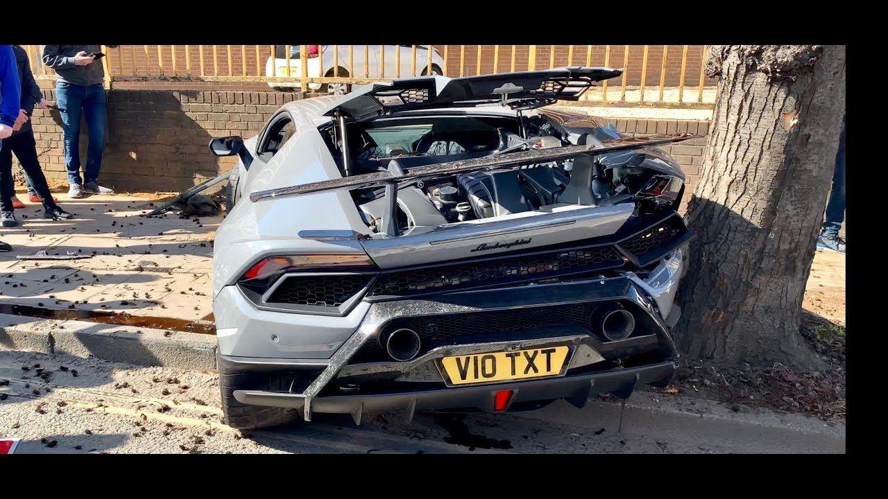 Huge Lamborghini Huracan Performante Crash At Supercars Meet London Lamborghini Huracan Lamborghini Super Cars