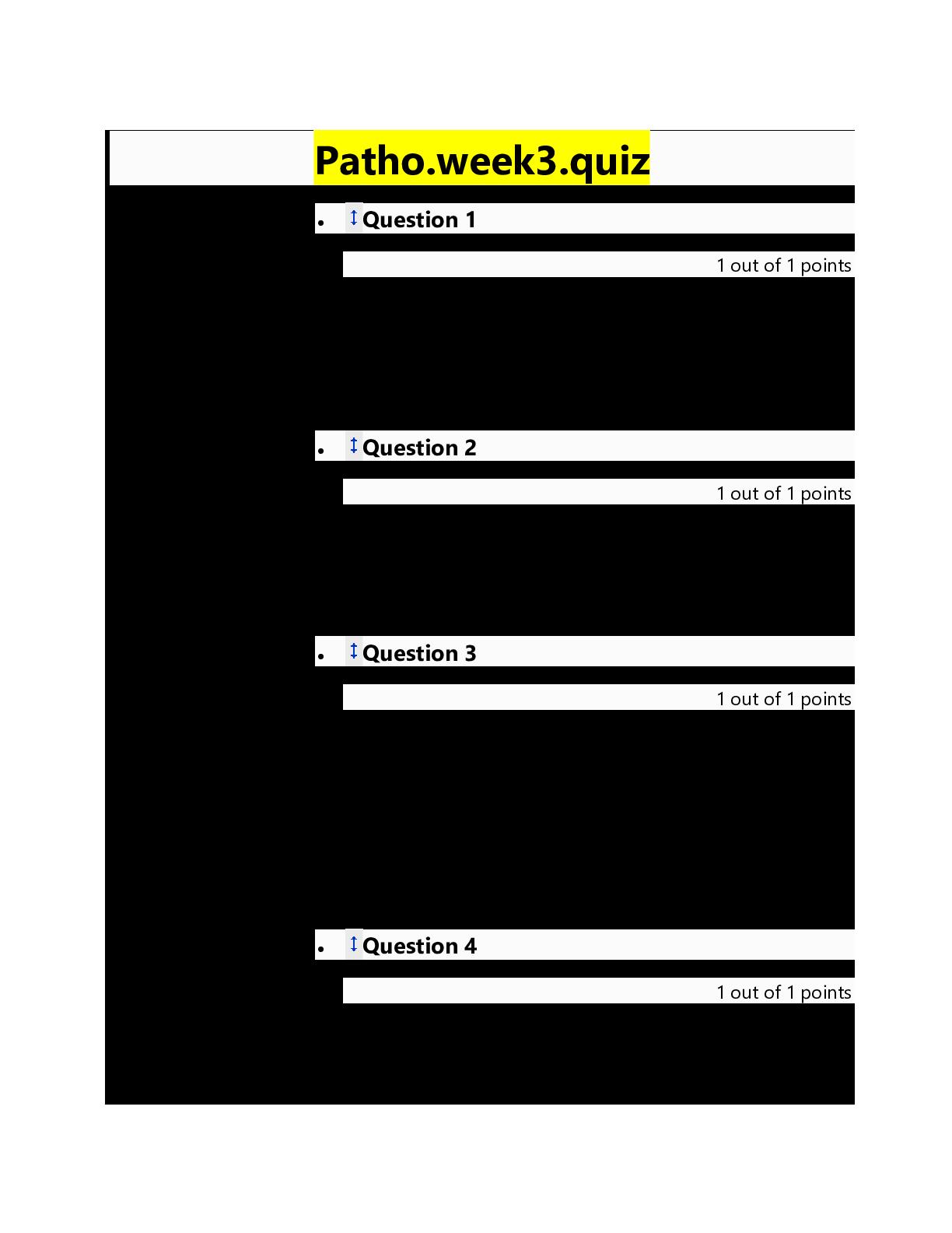 Photo of WaldenNURS 6501N / NURS6501N/ NURSING6501N patho.week3.quiz/ NURSING 6501N patho.week3.quiz