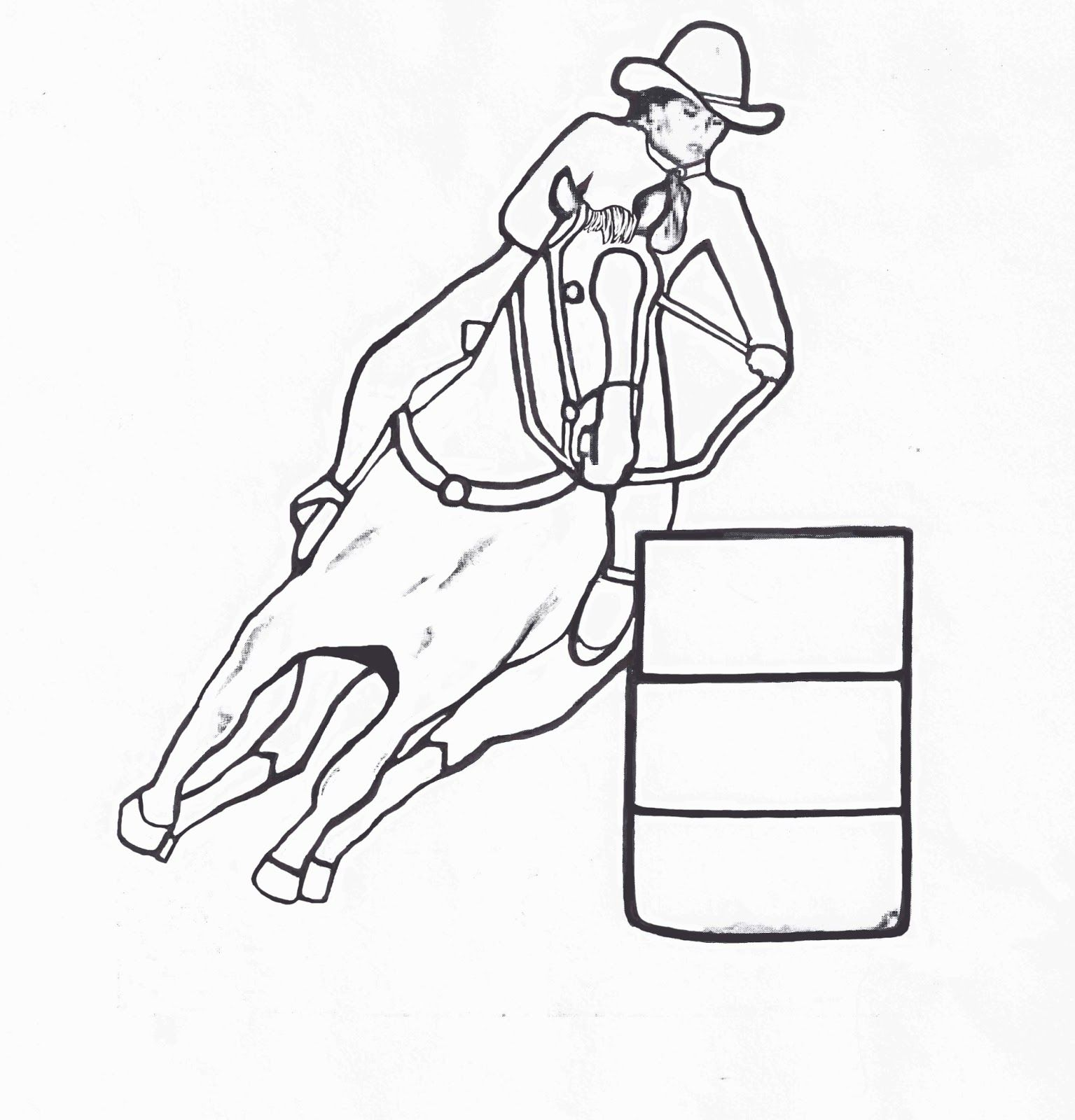 Image Result For Drawings Of Barrel Racing Coloring Pages Free Coloring Pages Rodeo Crafts