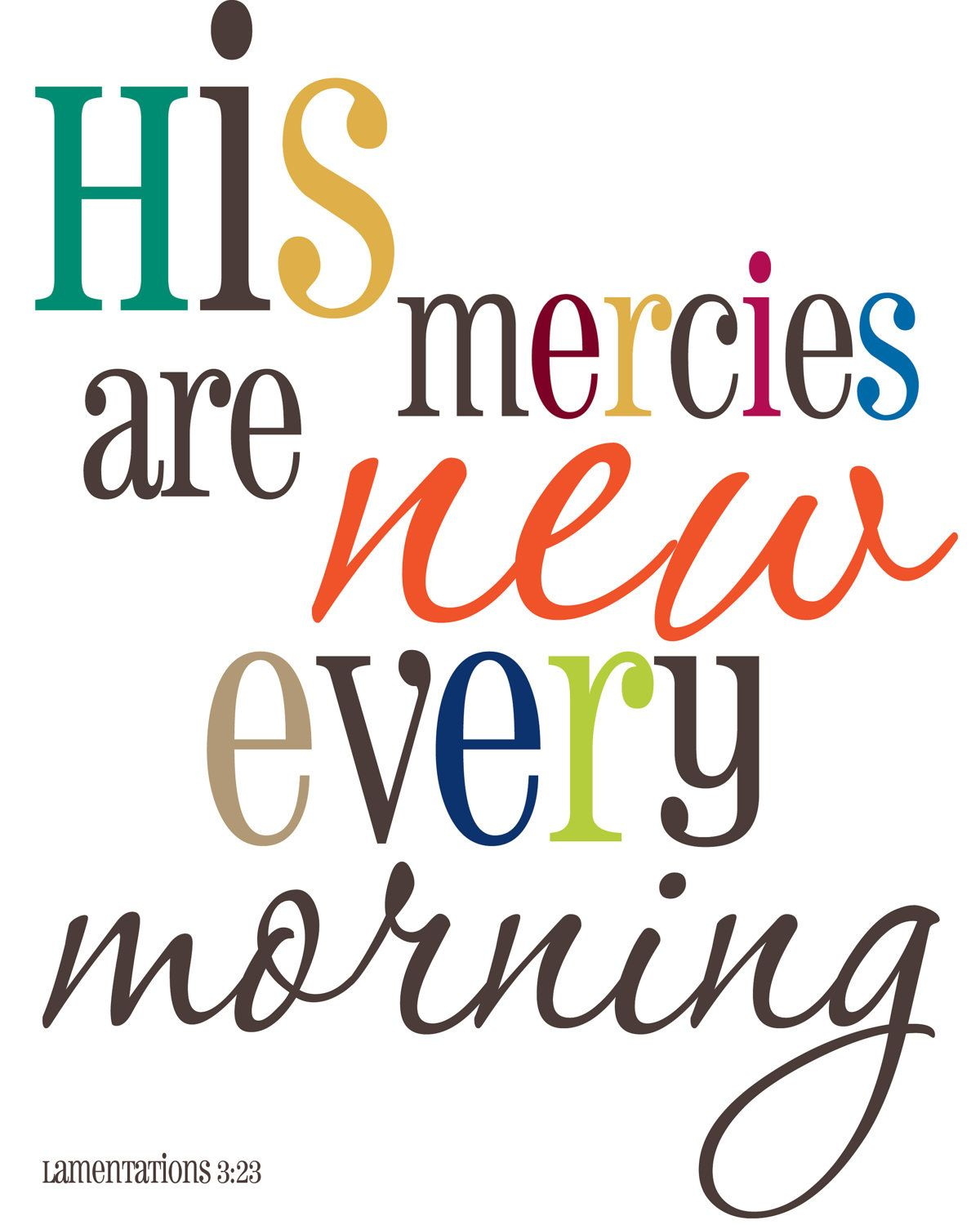 His mercies are new scripture art biblical wall decor his mercies are new scripture art biblical wall decor housewarming gift scripture amipublicfo Image collections