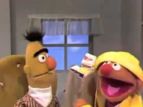"""""""Ernie, you have gone bananas."""" (Ernie prepares for a flood) This is us sometimes. Always be prepared. :P"""