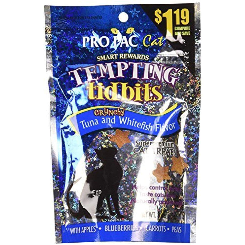 PRO PAC Tempting Tidbits Crunchy Tuna and Whitefish Cat
