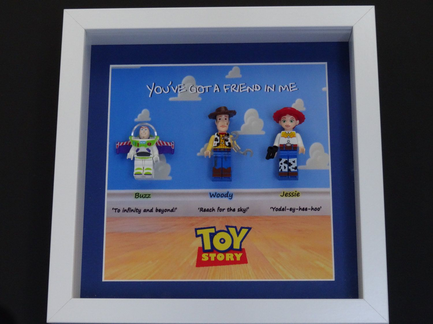 TOY STORY Minifigure box frame, wall art - Lego Inspired by ...