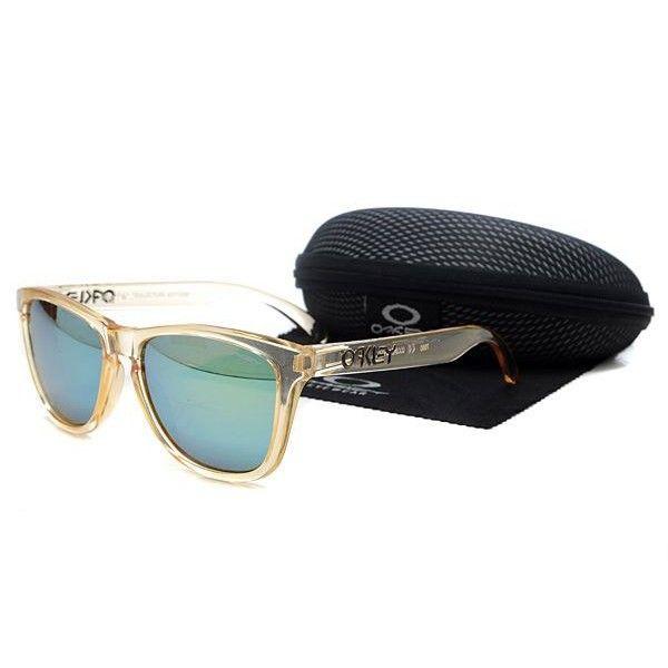df6e717bd38  12.99 Oakley Frogskins Sunglasses light blue lens clear orange frames-39651  Dealextreme www.oakleyssunglassesdealextreme.com