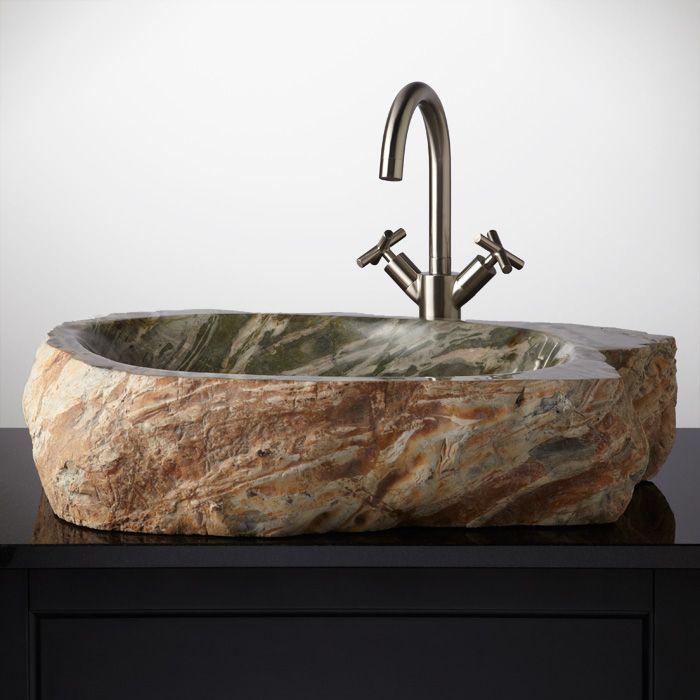 Kilcar Cobble Stone Vessel Sink Unique Sinks  Faucets Pinterest