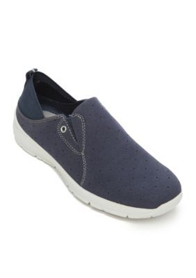 Easy Spirit Navy GetFlex Shoes - Available in Extended Sizes