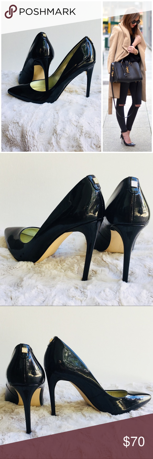 be3bee9c05f Black Patent Leather stilettos EUC! Ivanka Trump stilettos. Shows very  light wear. Sexy   classic! 4 in heel.  All my shoes I sell receive 5 stars  so you ...