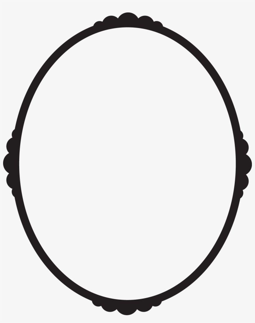 Black Oval Frame Png Svg Library Download Pressure Oval Frame Frame Mirror Table