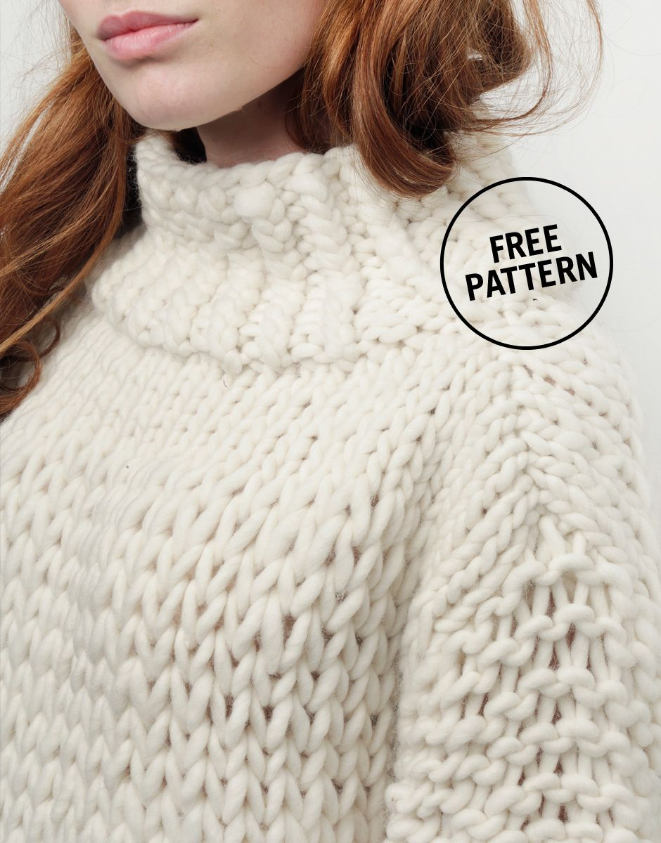 Wonderwool sweater by wool and the gang x good housekeeping free wonderwool sweater by wool and the gang x good housekeeping free pattern use crazy knitting sweatershand bankloansurffo Gallery