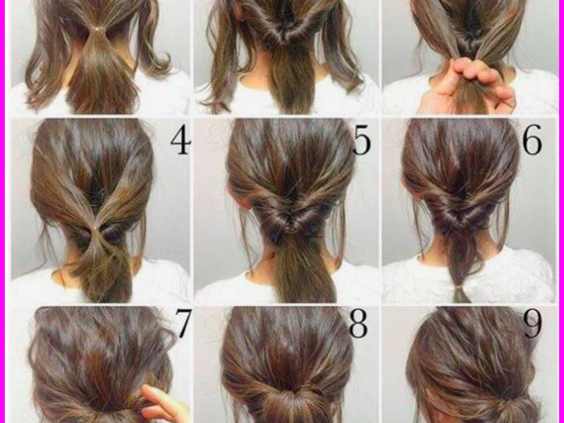 Hairstyle For School Girls Step By Step Guidance Hairstyles Haircuts Hair Schoolhair Casual Updos For Medium Hair Easy Updo Hairstyles Work Hairstyles