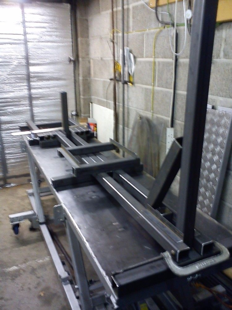 Frame Jig by Maz -- Homemade motorcycle frame jig fabricated from ...