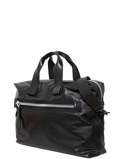 LANVIN - SMALL NAPPA LEATHER BOWLING BAG
