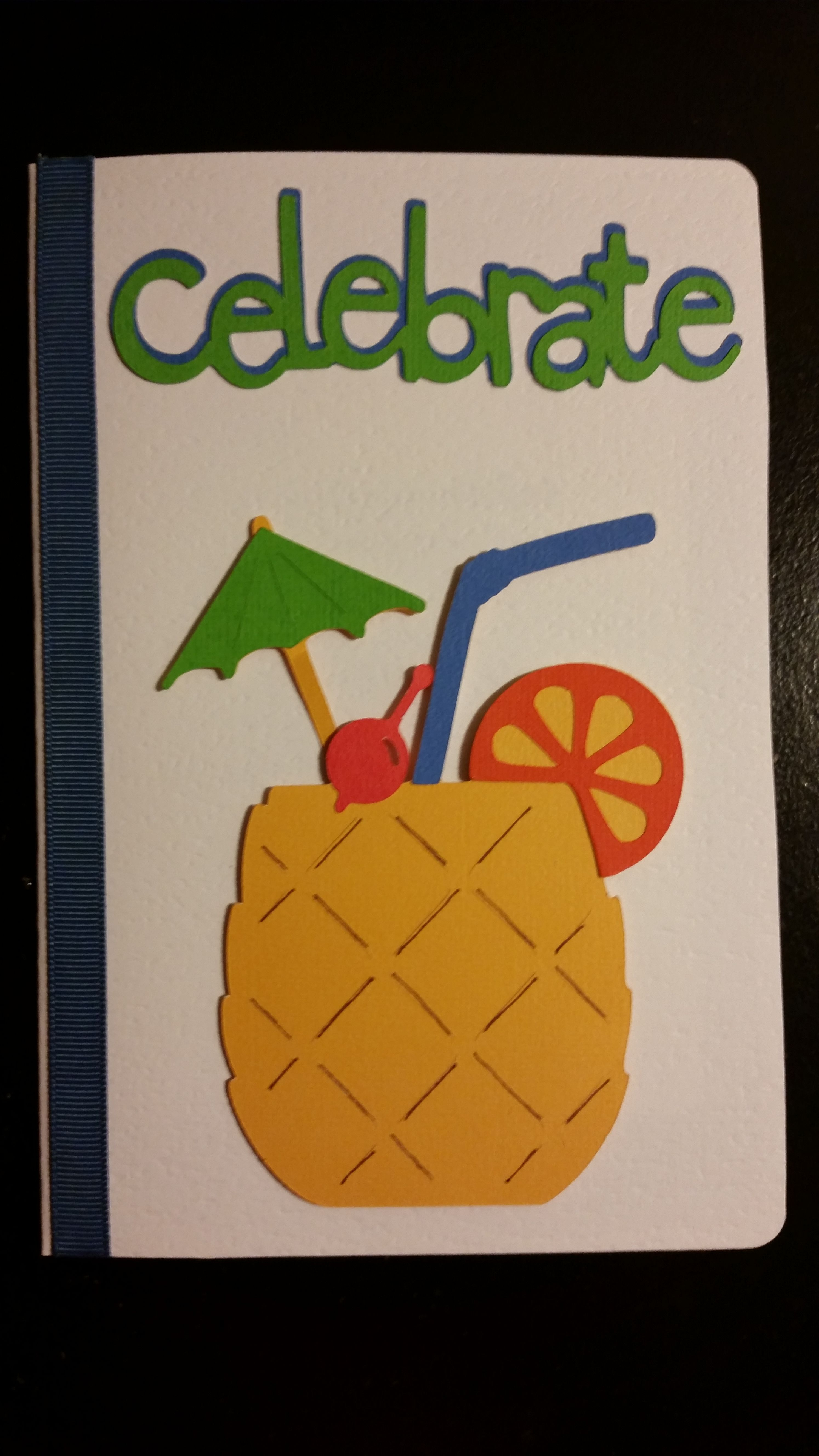 pineapple drink celebrate card