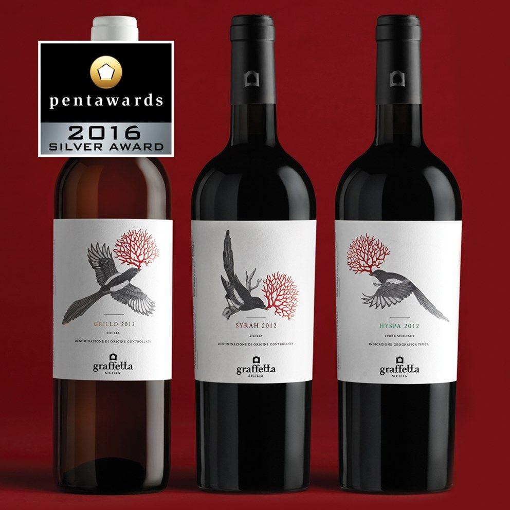 Silver Pentaward 2016 Beverages Neom Weinetiketten Weinflasche Alkohol