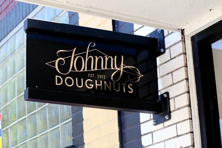 Johnny doughnuts packaging design food packaging design
