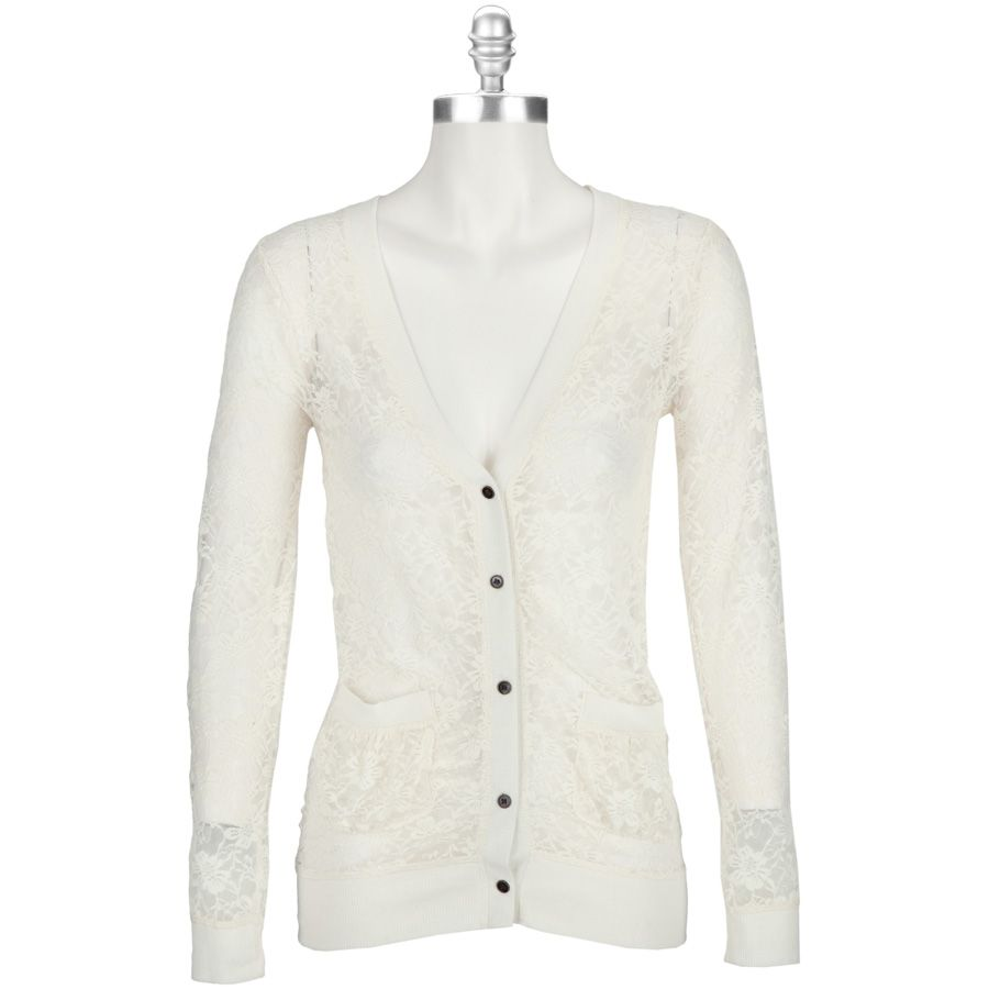 Chance or Fate Juniors Lace Cardigan with Pockets #VonMaur ...