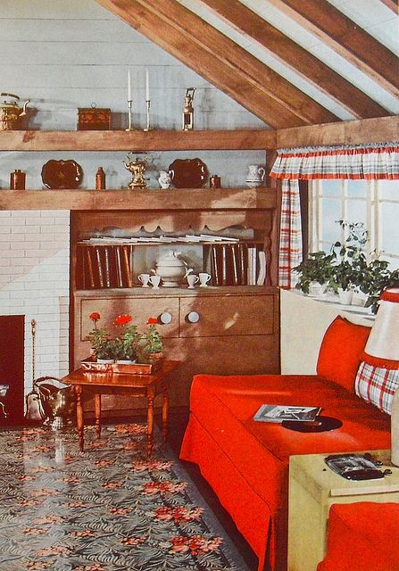 1948 Interior Decorating Book Sitting Room Den