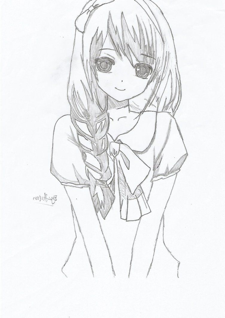 Simple Anime Girl Sketch Easy  Chelss Chapman