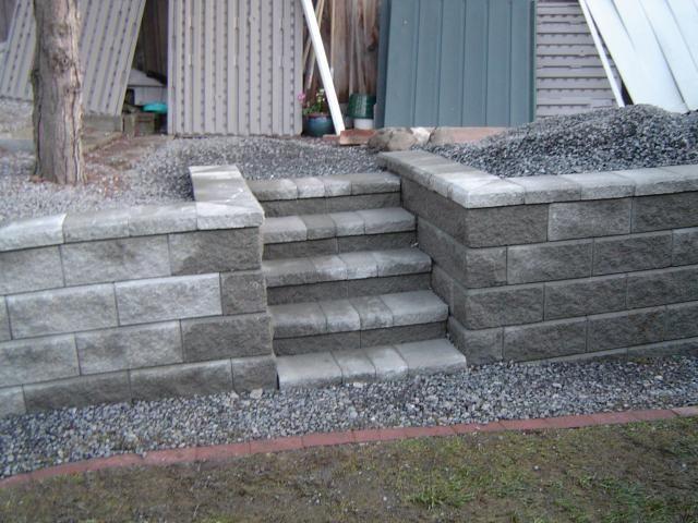Allan Block Allan Block Classic Basic Gray Backyard Patio