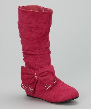 Loving this Fuchsia Bow Bella Boot on #zulily! #zulilyfinds