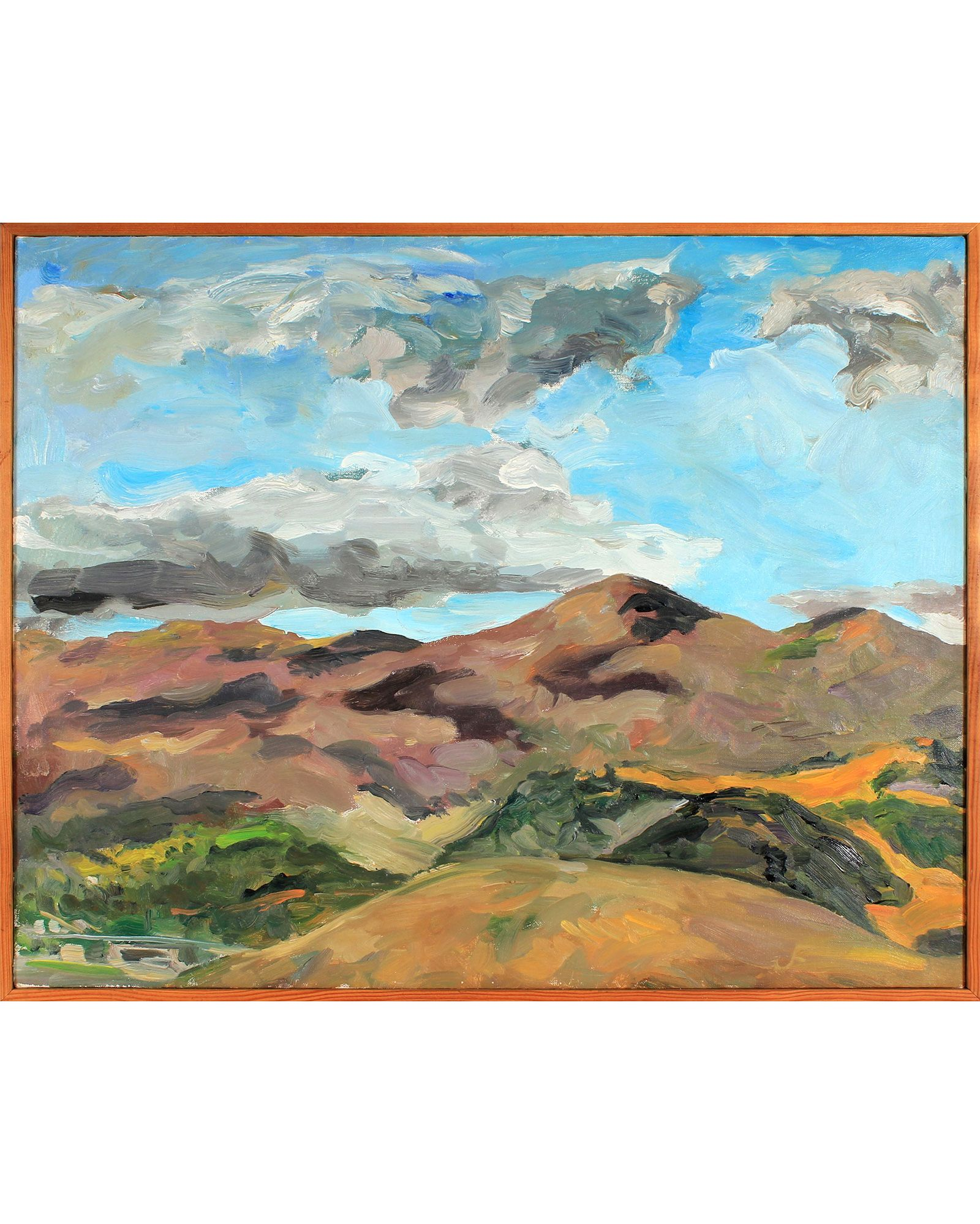 Oil on canvas, vintage frame. 29\