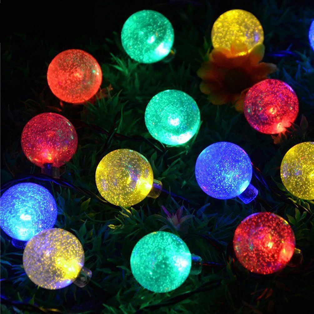 Pin by amazon on christmas string lights crystal ball blubs solar string lights197 foot 30 leds outdoor fairy lights waterproof solar crystal ball led lights for wedding decorationchristmas treebirthdayparty aloadofball Gallery