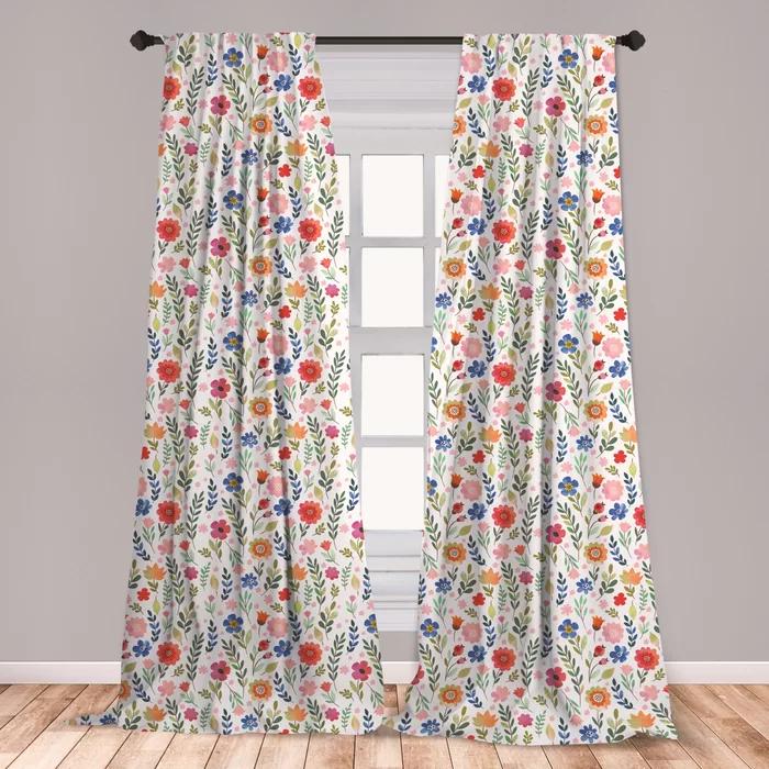 Floral Room Darkening Rod Pocket Curtain Panels Floral Room Rod Pocket Curtain Panels Rod Pocket Curtains