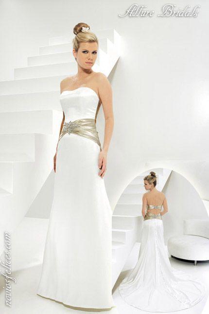 Nuevos colores para novias y bodas 2012, vestido de novia de estilo ...