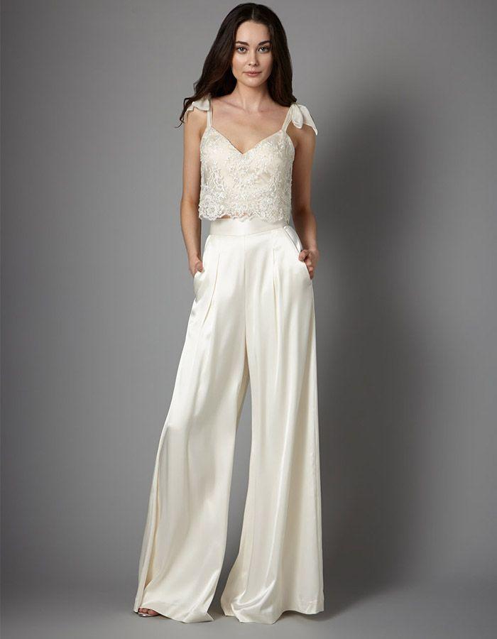 Свадебные брючные костюмы для невесты - 20 примеров | Свадебное ...