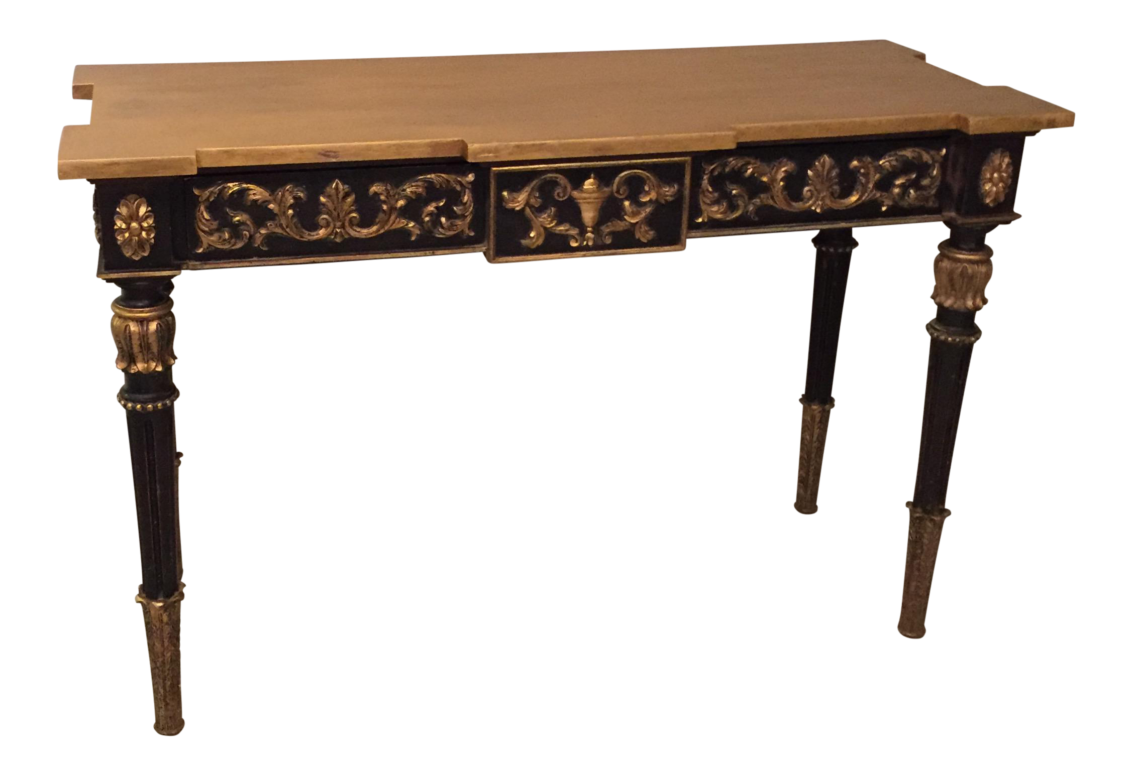 A gorgeous Neoclassical writing desk. Perfect console piece, many placement possibilities.