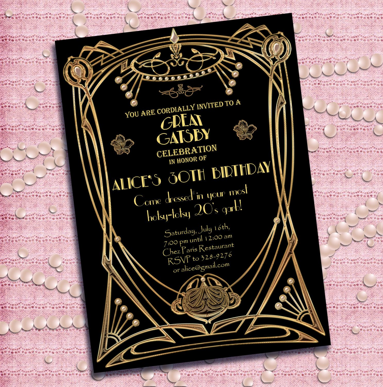 Great Gatsby Party | Great Gatsby Party Invitations Great gatsby ...