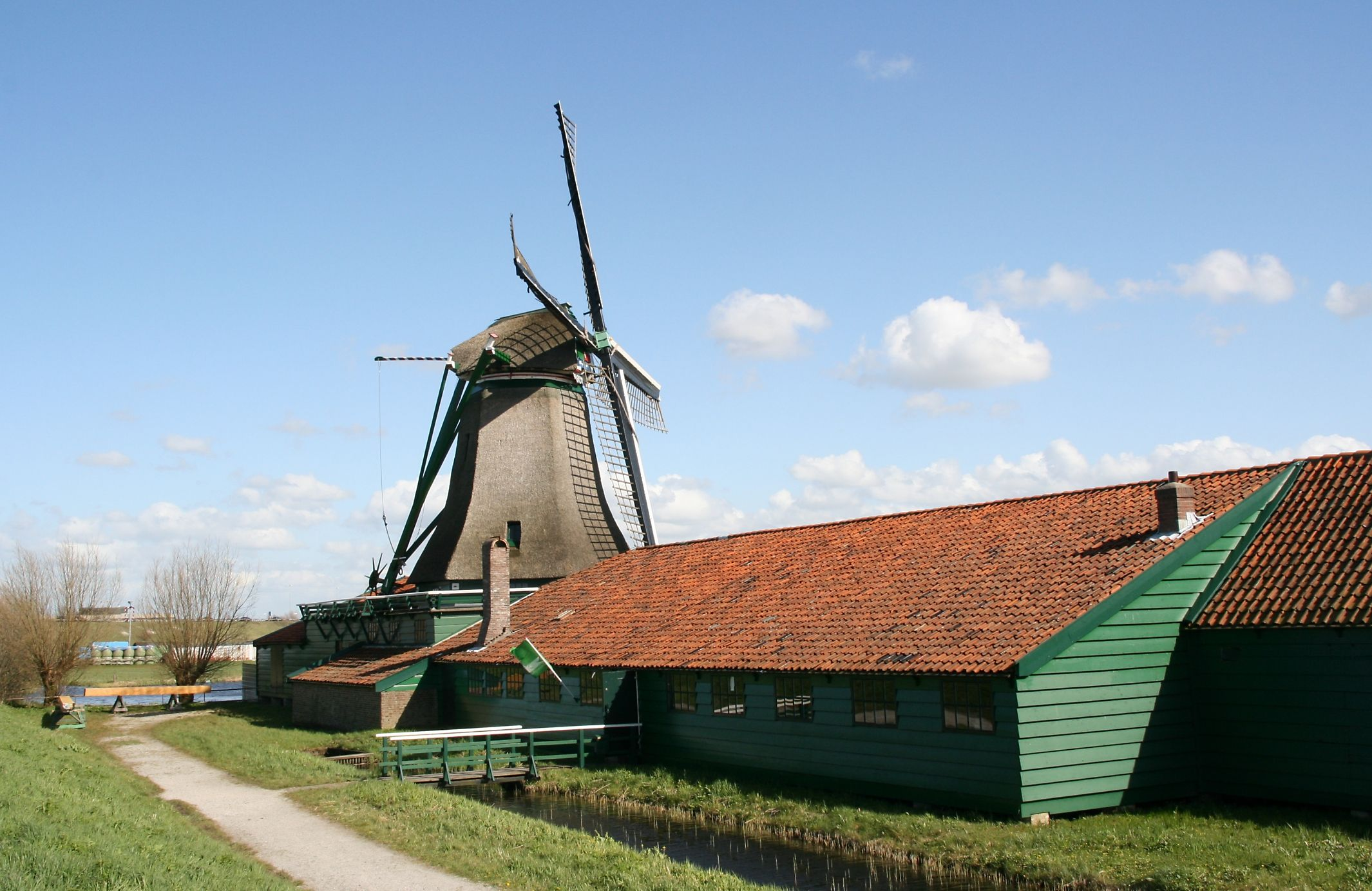 Paper mill De Schoolmeester, Westzaan, the Netherlands.