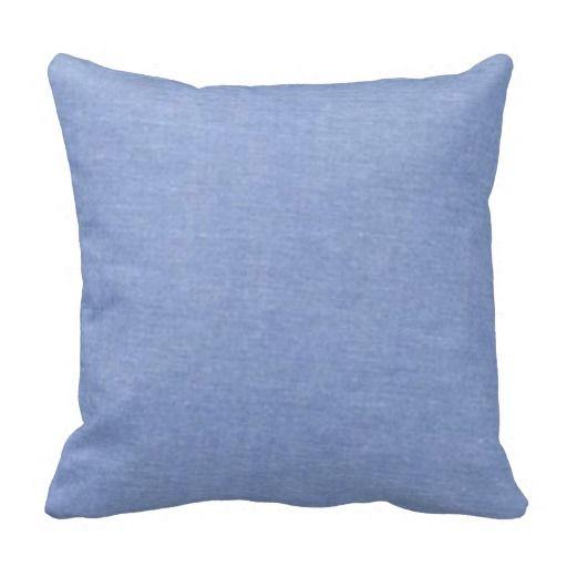 Light Blue Denim Style Throw Pillows